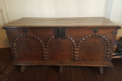 Chest purchased in 1629 to hold deeds and rents from original endowment farms and land