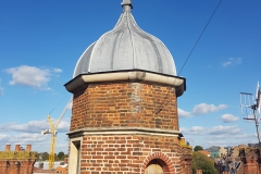 One of the roof turrets restored in 2004