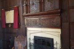 Fireplace, original charter and seal in the Archbishop's Presence Chamber