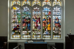 Stained Glass window by Alter in Chapel